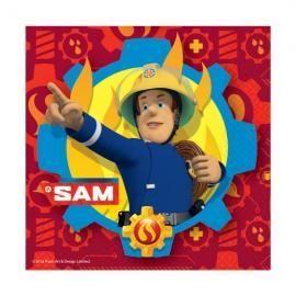 20-serviettes-en-papier-sam-le-pompier-33-x-33-cm - MyPartyKidz