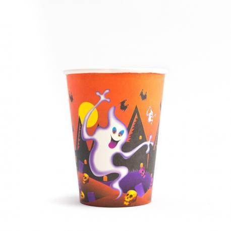 6 Gobelets en carton Fantômes Halloween - 25 cl - MyPartyKidz
