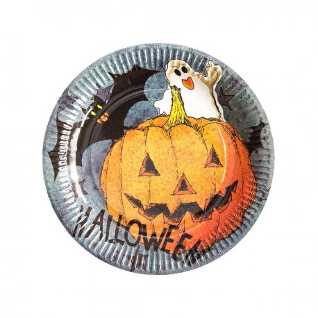 6 Assiettes en carton Dark Halloween - 23 cm - MyPartyKidz