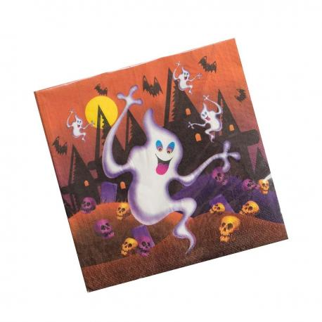 12 Serviettes en papier Fantômes Halloween - 33 x 33 cm - MyPartyKidz
