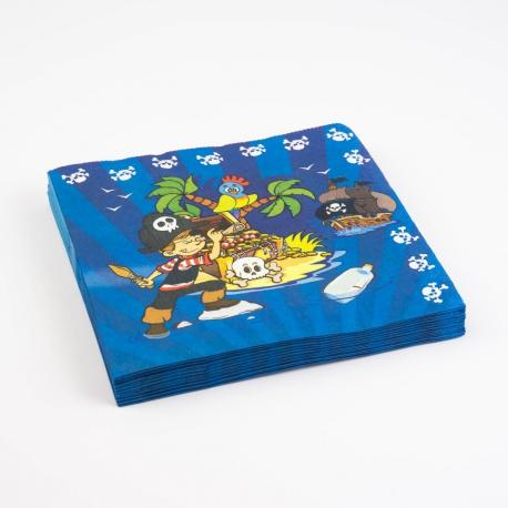 20 Serviettes en papier Pirate - 33 x 33 cm - My Party Kidz