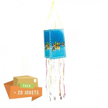 Pack pinata souple Pirate + 20 jouets - My Party Kidz