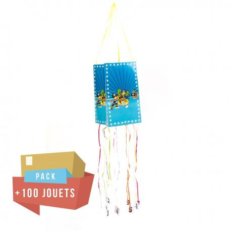 Pack pinata souple Pirate + 100 jouets - My Party Kidz