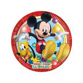 8 Assiettes en carton Mickey - 23 cm - My Party Kidz