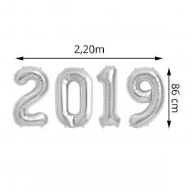 "Ballons Alu ""2019"" - Argent - 86 cm - My Party Kidz"