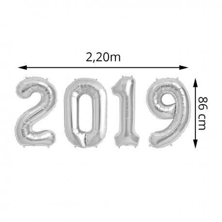 "Ballons Alu ""2019"" - Argent - 86 cm - My Party Kidz"