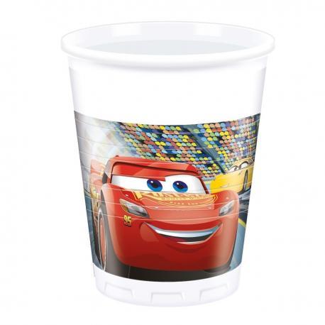 8 Gobelets en plastique Cars 3 - 20 cl - My Party Kidz