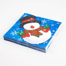 20 serviettes en papier Snow Man - My Party Kidz