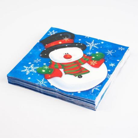 20 serviettes en papier Snow Man - My Party Kidz