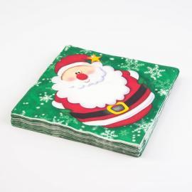 20 serviettes en papier Jingle Santa - My Party Kidz