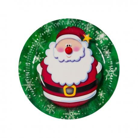6 assiettes Jingle Santa - My Party Kidz