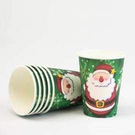 6 gobelets en carton Jingle Santa - My Party Kidz