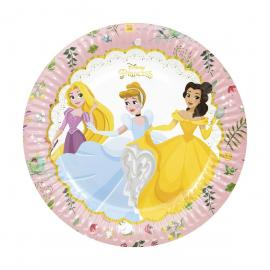 8 Assiettes premium en carton Princesses Disney Liberty - 23 cm