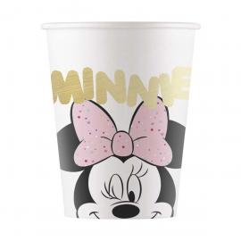 8 Gobelets premium en carton métallique Minnie - 20 cl - My Party Kidz