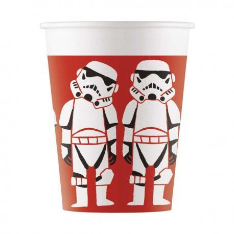 8 Gobelets premium en carton Star Wars Paper Cut - 20 cl - My Party Kidz