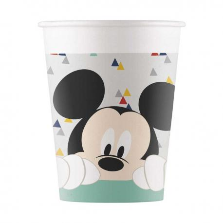 8 Gobelets premium en carton Mickey Awesome - 20 cl - My Party Kidz