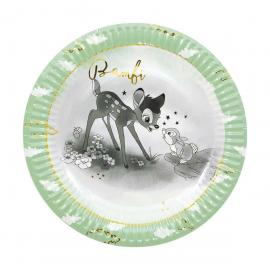 8 Assiettes premium en carton Bambi - 23 cm - My Party Kidz