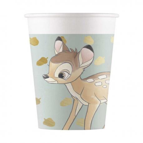 8 Gobelets premium en carton Bambi - 20 cl - My Party Kidz
