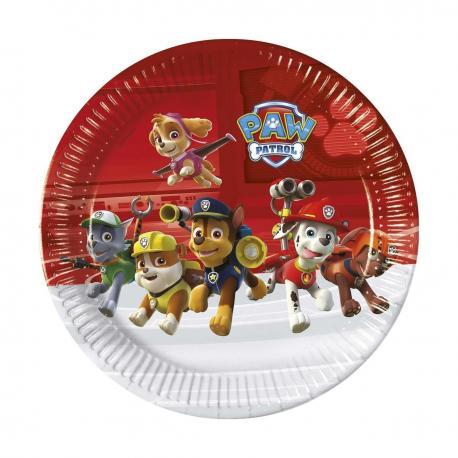 8 Assiettes en carton Pat Patrouille - 23 cm - My Party Kidz