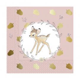 20 Serviettes premium en papier Bambi - 33 x 33 cm