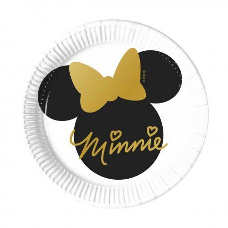 8 Assiettes en carton Minnie - 20 cm - My Party Kidz