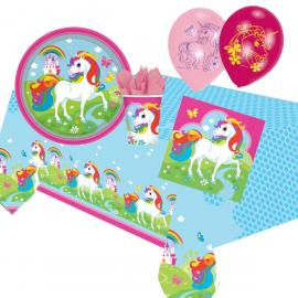Kit Anniversaire 16 Personnes Licorne - My Party Kidz
