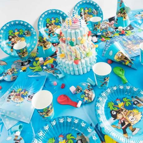 Méga Kit Anniversaire 12 Personnes Pirate - My Party Kidz