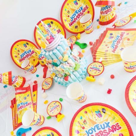 Méga Kit Anniversaire 12 Personnes Joyeux Anniversaire - My Party Kidz