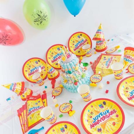 Méga Kit Anniversaire 6 Personnes Joyeux Anniversaire - My Party Kidz