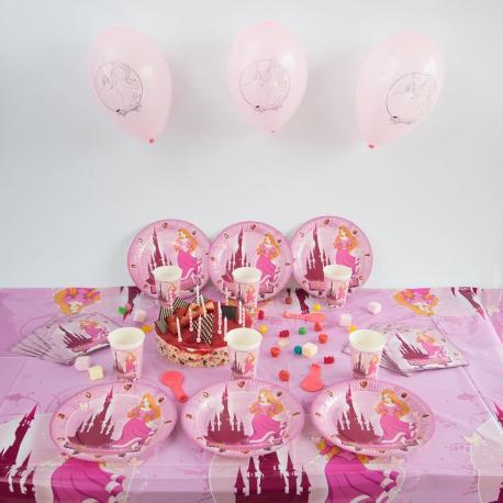 Kit Anniversaire 6 Personnes Princesse - My Party Kidz