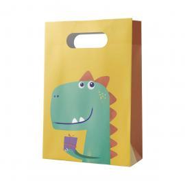 6 Sacs de fête en papier Dinosaure - My Party Kidz