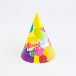 6 Chapeaux de fête Joyeux Anniversaire Pop