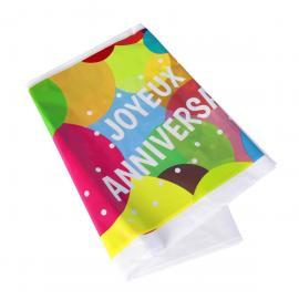 Nappe en plastique Joyeux Anniversaire Pop - 130 x 180 cm - My Party Kidz
