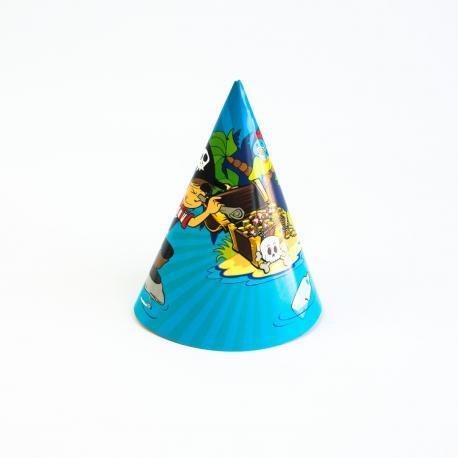 6 Chapeaux de fête Pirate - My Party Kidz