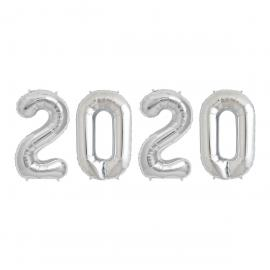"Ballons Alu ""2020"" - Argent - 36 cm - My Party Kidz"