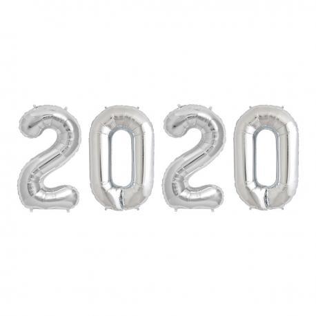 "Ballons Alu ""2020"" - Argent - 36 cm - My Party Kidz"