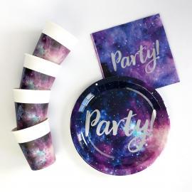 Kit Anniversaire 8 Personnes Galaxie - My Party Kidz