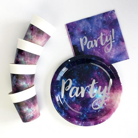Kit Anniversaire 8 Personnes Galaxie - My Party Kidz