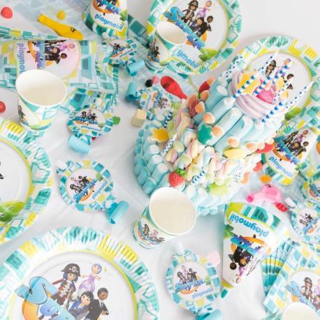 Méga Kit Anniversaire 6 Personnes Playmobil Super 4 - My Party Kidz
