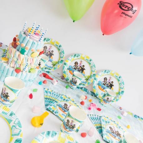 Kit Anniversaire 12 Personnes Playmobil Super 4 - My Party Kidz