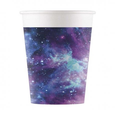 8 Gobelets en carton Galaxie - 20 cl - My Party Kidz