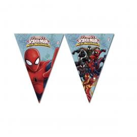 Guirlande Fanions Spiderman Web Warriors - 2,30 m - My Party Kidz