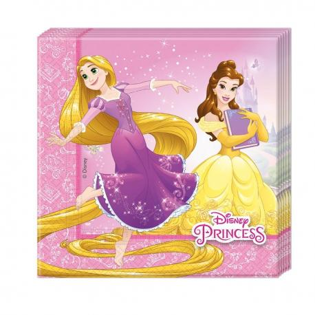 20 Serviettes en papier Princesses Disney - 33 x 33 cm - My Party Kidz