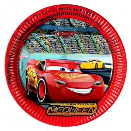 8 Assiettes en carton Cars 3 - 23 cm - My Party Kidz