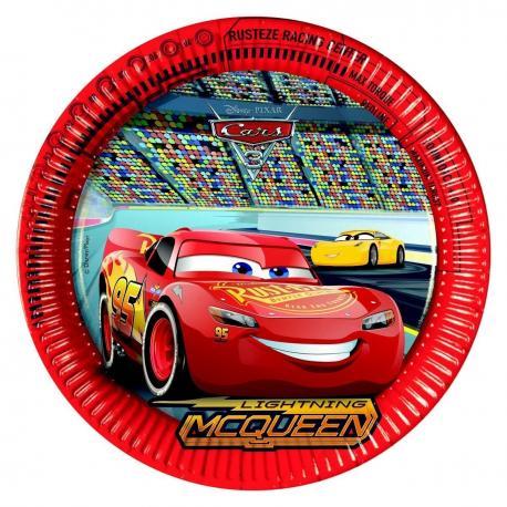 8 Assiettes en carton Cars 3 - 23 cm - My Party Kidz