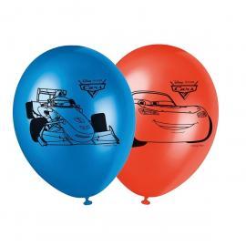 8 Ballons imprimés Cars
