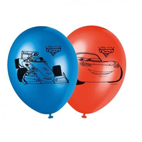 8 Ballons imprimés Cars - My Party Kidz