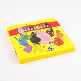 20 Serviettes en papier Barbapapa - 33 x 33 cm - My Party Kidz