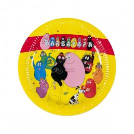 6 Assiettes en carton Barbapapa - 23 cm - My Party Kidz