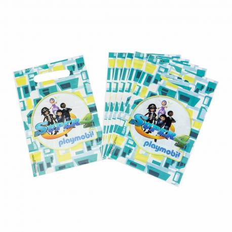 6 Sacs à Bonbons Playmobil Super 4 - My Party Kidz